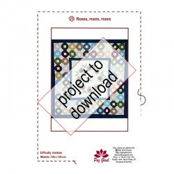 Download PDF-Roses quilting