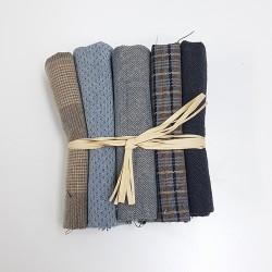 Japanese yarn dyed fat eighth bundle-light blue