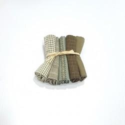 Japanese yarn dyed fat eighth bundle-green
