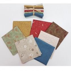 7 fat eitghth japanese print fabrics Colors