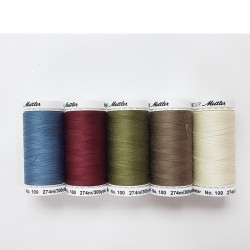 quilting thread and sew all Mettler mix