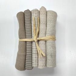 Japanese yarn dyed fat eighth bundle-white