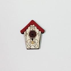 Botón Casa Pájaro Dibujo