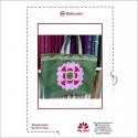 Sack bag with flower
