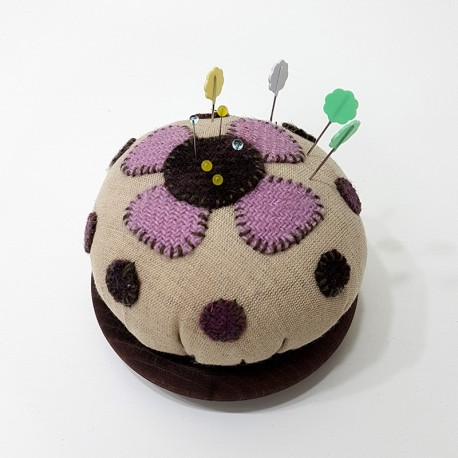 Pincushion with flower